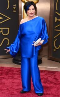 Liza Minnelli. Se quedó dormida y fue con el pijama!