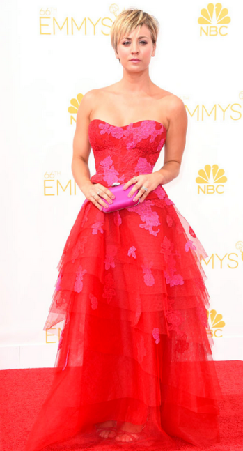 Emmy Awards - Kaley Cuoco by Monique Lhuillier