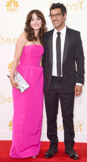 Emmy Awards - Zoey Deschanel by Oscar de la Renta