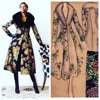 Barbara Tfank - NYFW Fall 16 From sketch to coat